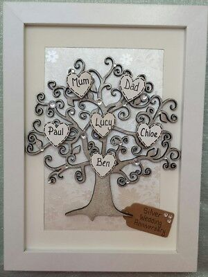 Silver Wedding Anniversary Gift 25th 25 Years Personalised Family