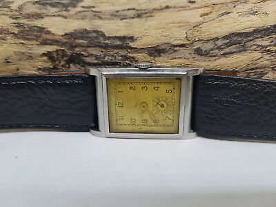 Rare Vintage 60's Art Deco Sub Second Silver Dial Manual Wind Man's Watch