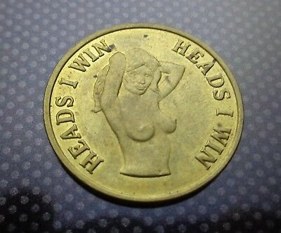 1970's Men's & Women's HEADS I WIN TAILS YOU LOSE ADULT COIN FREE U.S. S/H