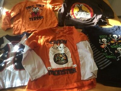 Lot 5 Boys Halloween Thanksgiving Sz 4 Shirts Used Gymboree Jumping Bean