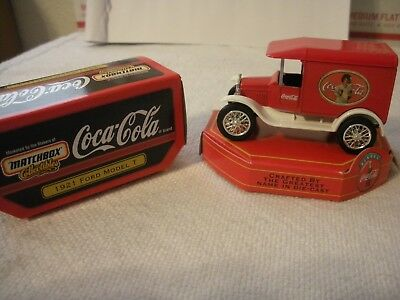 Matchbox Collectible  Die Cast Coca Cola 1921 Ford Model T Red & White 1/64