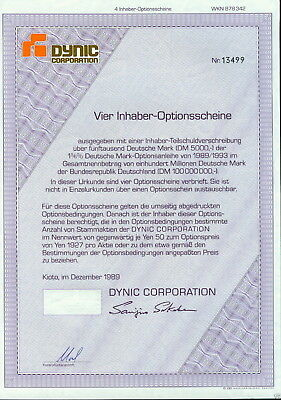 Lot 10 X Dynic Corporation 4er-OS 1989