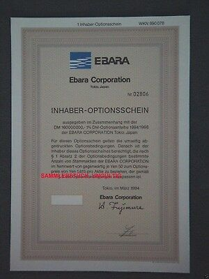 Lot 10 X Ebara Corporation 1er-OS 1994