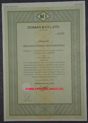 Lot 10 X Itoman & Co., Ltd. 10er-OS 1989