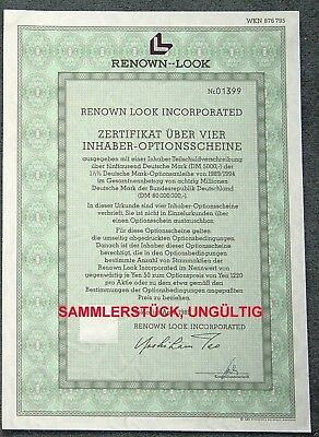 Lot 10 X Renown Look Incorporated 4er-OS 1989