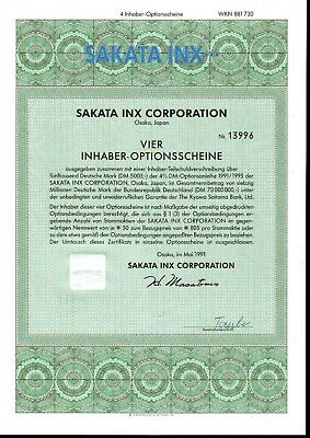 Lot 10 X Sakata Inx Corporation 4er-OS 1991