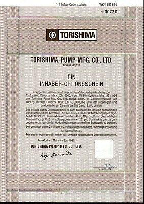 Lot 10 X Torishima Pump Co., Ltd. 1er-OS 1991