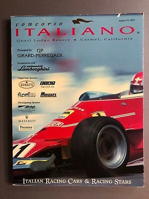 Concorso Italiano 2002 Program Celebrating Alfa Maserati Ferrari RARE!! Awesome