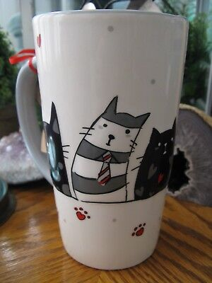 New Large Sassy Cats Cat Mom Ceramic Coffee Latte Tea Mug Cup
