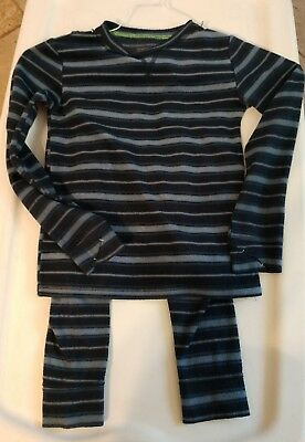 Climate Right Cuddl Duds Pants & Shirt Pajamas PJ'S  Lounge Boys Size Small 6/7