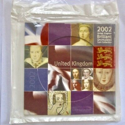 2002 Brilliant Coin Set United Kingdom Royal Mint Uncirculated Queens of England