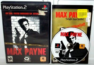 Max Payne Sony Playstation 2 2001 Ps2 Complete Video Game Max