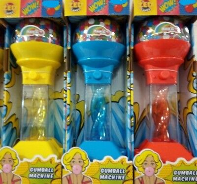 """10""""Gumball Dispenser Machine Toy Bubble Gum Bag Included Coin Operated Bank 30g"""