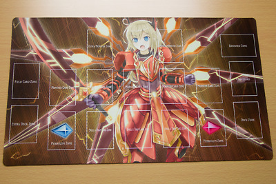 F2877 Custom Yugioh Playmat Sky Striker Ace Kagari Play Mat With Card Zones 19 99 Picclick Uk