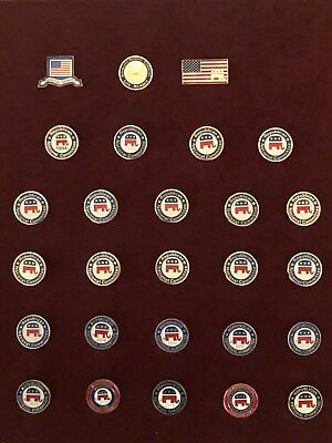 Complete Set of Republican National Committee Lapel Pins 1994-2017! Rare! GOP!