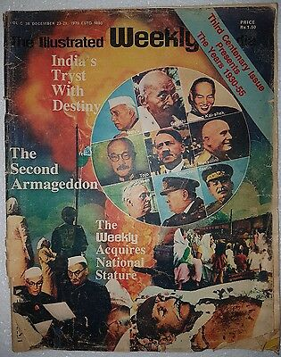 Illustrated Weekly Of India 1979 Magazine sp. 3rd Centenary Issue years 1930-55