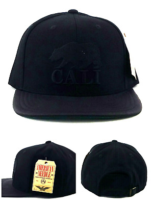 e96c6febe7fed California Replublic New American Needle Cali Black Leather Era Snapback Hat  Cap