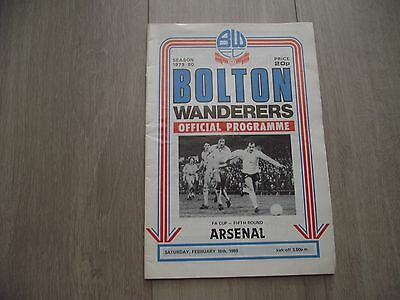 1979-80 Bolton Wanderers v Arsenal - F.A. Cup Round 5