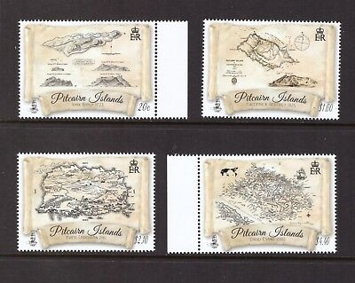 Pitcairn Islands MNH 2017 Maps of Pitcairn through the Centurie set mint stamps