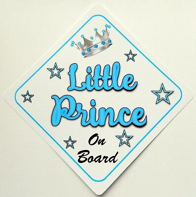 Other Baby Safety & Health Non Personalised Child/baby On Board Car Sign ~ Nannys Prince On Board ~ Brown Beautiful In Colour Baby Safety & Health