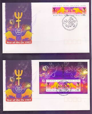 Christmas Island  1997  FDC, Year of the Ox (2).