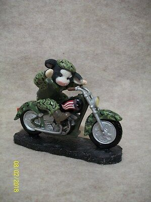A Proud Salute - Motorcycle Figurine