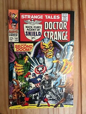 Strange Tales #161  Marvel 1967 , Shield and Doctor Strange,STERANKO  Grade FN+