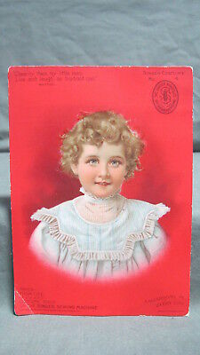 Trade Card Singer Sewing Machine co Costume # 4