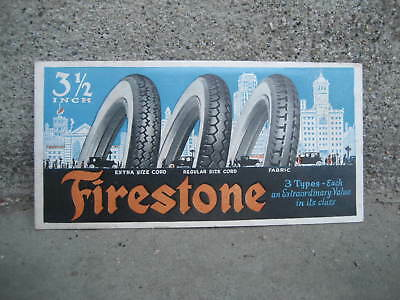 "Vintage Firestone 3.5"" Cord Tire Ink Blotter Advertisement"