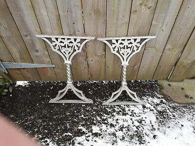 Vintage / Antique Cast Iron Garden Table Ends Or Balustrades Priced Per Pair