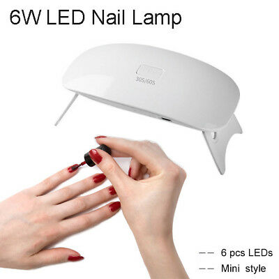 Mini Nail Dryer UV LED Lamp 6W Gel Curing Machine Manicure Polish Portable Light