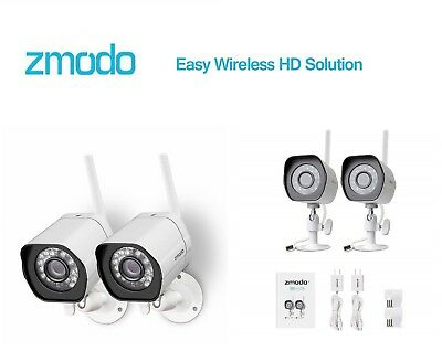 Zmodo Wireless Security Camera System (2 Pack),Smart Home HD Indoor Outdoor WiFi