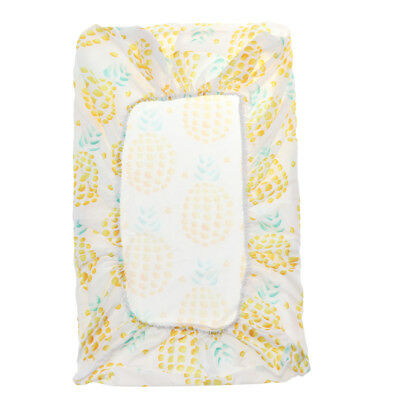 Stretchy Baby Reusable Diaper Change Table Pad Covers for Girl Boy Pineapple