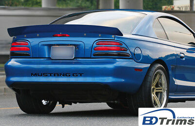BDTrims   Black Bumper Letters for Ford Mustang GT 1994-1998 Plastic Inserts