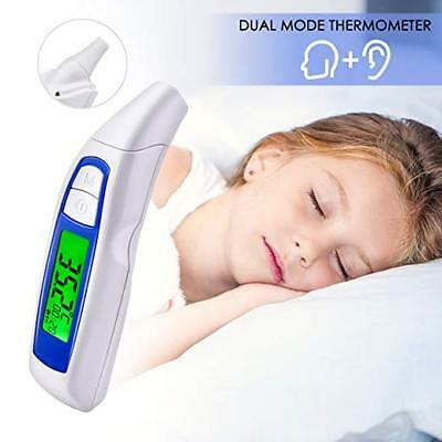 Dual Mode Digital Medical Thermometer Ear and Forehead Professional Baby Adult
