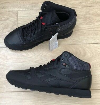 2a6cf2a6cde5 REEBOK CLASSIC LEATHER Mid Trainers Size UK 10 EUR 44.5 - £47.99 ...