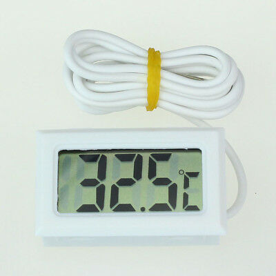 Mini Digital LCD High Temperature Thermometer With Probe Celsius White 1
