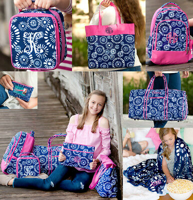 40cf1629d9 Personalized Monogrammed Backpack Lunch Tote Duffel Bag Blanket 6 Choices