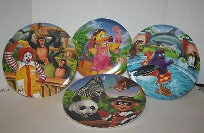 1996 McDonald's Collectible Plastic Plate Set of 4 Never Used