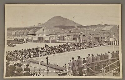 Berwick Law from the Bathing Pool. Posted 1950