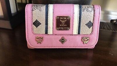 Authentic MCM Visetos Key Holder Wallet W/ Detachable O-Ring