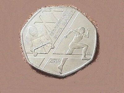 RARE 2014 Royal Mint British Glasgow Commonwealth Games 50p Fifty Pence Coin