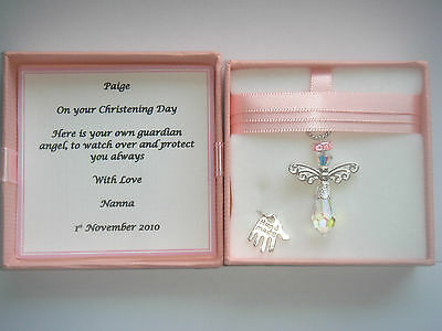 Naming Christening Baptism Day Guardian Angel Gift Present Girl Personalised