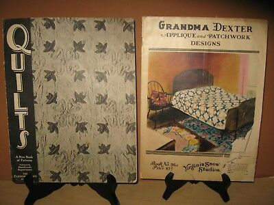 Two - 1930's Grandma Dexter Virginia Snow & Farmer's Wife Quilt Pattern Books