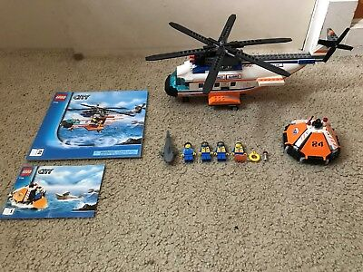 New Lego Town City 7738 Coast Guard Helicopter And Life Raft Sealed