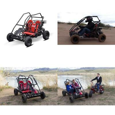 COLEMAN OFF-ROAD GO-KARTS Red 100cc Engine Single Rider 4 Point ...