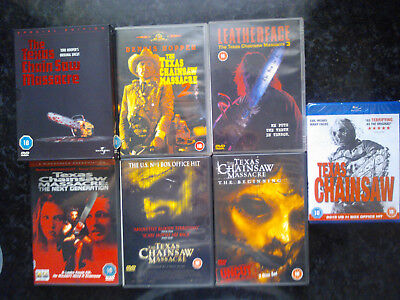 TEXAS CHAINSAW MASSACRE COMPLETE Movies 1 - 8 Leatherface Horror 7 DVD 1 BLURAY
