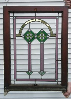 Antique Stained Glass Window 23x33""
