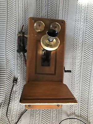 Vtg Guild Country Belle 556 Antique Tube Radio Receiver Wall Phone WORKS