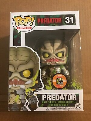 Funko Pop Predator Green Bloody #31 SDCC 2013 LE 1008 New in Hard Stack Horror